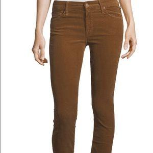 """Mother Jeans """" The Looker"""" Tan Velvet Skinny"""